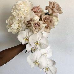 Winter Wedding Flowers, Bridal Flowers, Floral Wedding, Wedding Day, Bridesmaid Flowers, Bride Bouquets, Floral Centerpieces, Floral Arrangements, White Orchid Bouquet