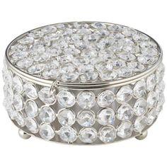 Cristalis Round Crystal Jewelry Box -