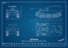 World war 2 engineering blueprints google search armorgun and panzer wehrmacht ferdinand von panzerblog bei artflakes als poster oder malvernweather Image collections