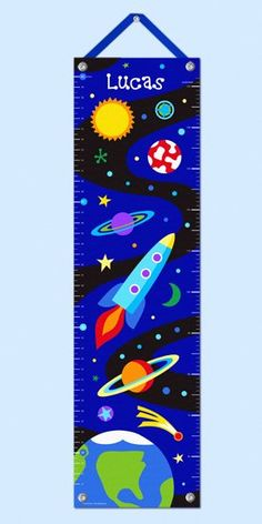 Cute growth chart!  It would be fun to make one of these with the solar system in order.