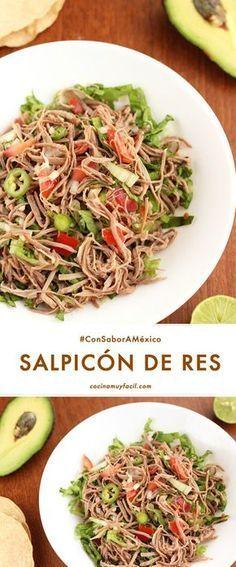 Descubre cómo preparar salpicón de res. Receta de cocina mexicana | cocinamuyfacil.com