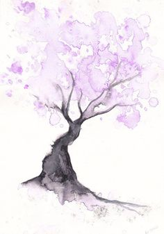 Cherry Blossom Tree Print Watercolor Painting Print Spring Tree Gift Bedroom Decor Wall Art Cherry Blossom Decor Home Wall Decor Aquarell Wasserfarben Cherry Blossom Decor, Blossom Trees, Cherry Blossoms, Watercolor Walls, Watercolor Trees, Watercolor Tattoo, Watercolor Illustration, Easy Watercolor, Abstract Watercolor