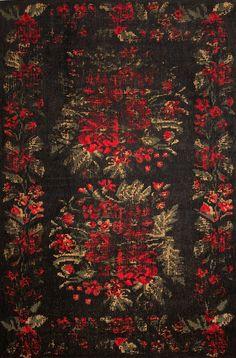 Klassicher Orient Teppich Muster   gefärbt gewebt   black-red #Vintage #Teppich