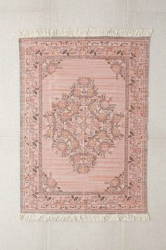 Shop Stina Floral Space Dyed Printed Rug at Urban Outfitters today. We carry all the latest styles, colors and brands for you to choose from right here. Room Rugs, Rugs In Living Room, Area Rugs, Tapetes Vintage, Urban Outfitters Rug, Pink Home Accessories, Millenial Pink, Entry Rug, Rooms Home Decor
