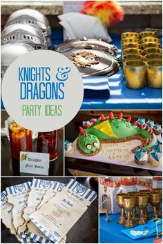 Boy's Knights and Dragons Birthday Party Ideas
