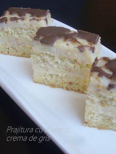 Adela Zilahi: Prajitura cu alune si crema de gris Krispie Treats, Rice Krispies, Vanilla Cake, Food And Drink, Sweets, Desserts, Recipes, Whimsical, Classy