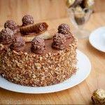 Ferrero Rocher Cake Tutorial