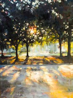Landscape Art, Landscape Paintings, Landscapes, Drawing Scenery, Watercolor Art, Painting Abstract, Acrylic Paintings, Light Art, Tree Art