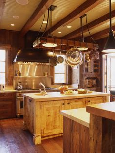 Great Rustic Kitchen Pot Racks with Lighting Ideas Looking for the Greatest Kitchen Pot Racks Design