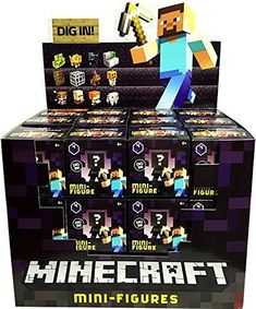"Minecraft Obsidian Series 4 Collectible 1"" Mini-Figures Mystery Blind Box Case of 36 by Mattel"