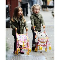 Marion and Tabitha Broderick Spotted in NYC! Plus 8 Top Baby Doll... ❤ liked on Polyvore featuring babies
