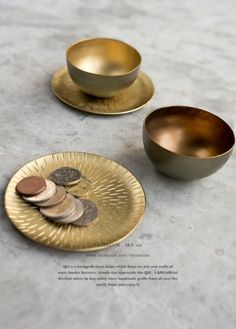 日本進口.印度存手工製作純銅黃銅金屬手工鑿紋雕刻杯墊杯盤茶杯金屬小杯小碗 飾品盤 小碗