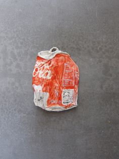 Rose Eken  Coke can, 2012  1:1 glazed ceramic  3.5 x 5.5 inches  Courtesy of the artist and Unspeakable Projects, San Francisco.  Work by this artist will be available at ArtPadSF 2013.