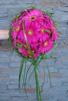 Pinke Gerbera - Brautstrauß