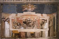 GIOTTO di Bondone Scenes from the Life of St Francis (north wall) Fresco Bardi Chapel, Santa Croce, Florence Death and Ascension of St Francis. St. Francis, Francis Of Assisi, Fresco, Renaissance Kunst, Italian Renaissance, The Rules, Madonna, Italian Paintings, Great Works Of Art