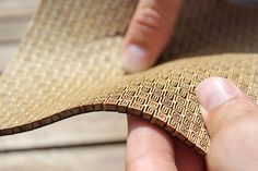 Super flexible double curvature surface - laser cut plywood