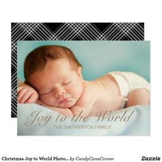Christmas Joy to World Photo Gold Black Tartan Invitation Christmas Card Template, Personalised Christmas Cards, Family Christmas, Christmas Photos, Black Christmas, Photo Cards, Photo Greeting Cards, Photo Gold, Christmas Invitations