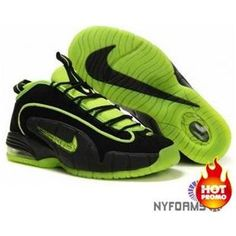 new product 4b972 a3fda Nike Air Max Penny 1 Highlighter Pack Black Electric Green Nike Shox Shoes,  Kobe Shoes