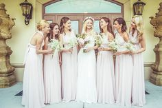 Image by Camille Marciano - Hayley Paige Wedding Dress For A Pastel Themed Wedding With Rose Flower Crown At Le Vignoble Carpinteri Quebec With Bridesmaids In Dusky Pink And Images By Camille Marciano