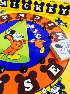A personal favorite from my Etsy shop https://www.etsy.com/listing/245996109/1976-mickey-mouse-board-game-parker