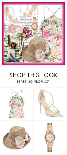 """""""Ruffled Tops"""" by blue99star ❤ liked on Polyvore featuring Schutz and Michael Kors"""
