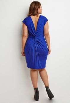 Knotted-Back Shift Dress | Forever 21 PLUS - 2000155786