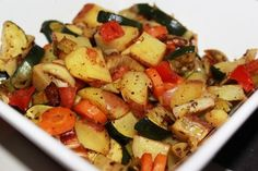 Sage Roasted Vegetables, Fall Recipe