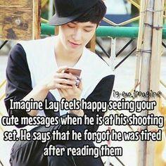 Exo Imagines, Cute Messages, Feeling Happy, Mens Sunglasses, Kpop, Feelings, Sayings, Reading, Style
