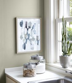 Soft Sage Paint color from Behr Color Trends 2018 Color Sample Wabi-Sabi Room Colors, Wall Colors, House Colors, Paint Colours, Wabi Sabi, Interior Design Living Room, Living Room Decor, Diy Interior, Dining Room
