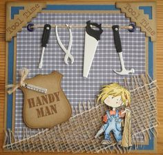 Card Gallery - Marianne Design... masculine card by Liza and Jeannette