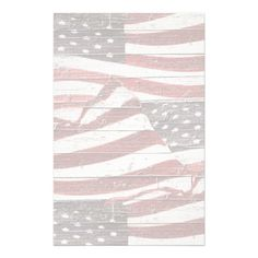SOLD! Painted #American Flag on Rustic Wood Texture Stationery by #redwhiteandblue1 #USA  shipping to Scarsdale, NY