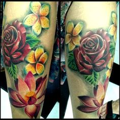 POWER DRAGON TATTOO: Flores