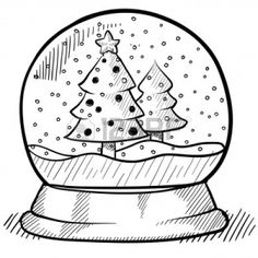 Simple christmas drawings drawings how to draw objects doodle style show globe illustration in vector format cute easy christmas drawings Christmas Drawings For Kids, Christmas Sketch, Christmas Doodles, Christmas Coloring Pages, Christmas Pictures To Draw, Christmas Snow Globes, Christmas Shows, Christmas Colors, Simple Christmas