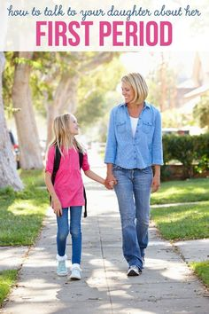10 easy tips on how to talk to your daughter about her first period and get her prepared for becoming a woman!
