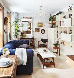 Navy Chesterfield Sofa. Love!
