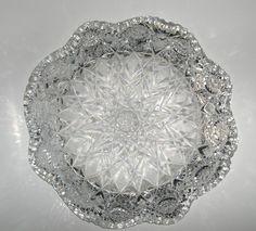 Vintage American Period Brilliant Cut Glass, low bowl