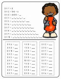 2nd Grade Worksheets, School Worksheets, Teaching Multiplication, Teaching Math, Math For Kids, Activities For Kids, School Frame, Exercise For Kids, Good Parenting