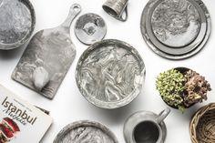 Grey Ebru Marble Ceramic Salad Plate - Simple Life Istanbul   - 3