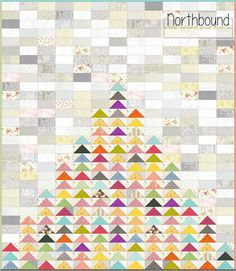 Piece N Quilt: Northbound - A Low-Volume Quilt Tutorial - this one is very appealing, especially with the close straight-ish line quilting in about 6-8 different colors.  Adds a lot to the quilt.