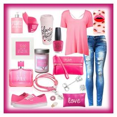 """""""50 shades of pink"""" by skylovessave on Polyvore featuring Boohoo, Vans, Kate Spade, Amanda Rose Collection, Oxford Ivy, Victoria's Secret PINK, OPI, Iphoria, Illume and INC International Concepts"""