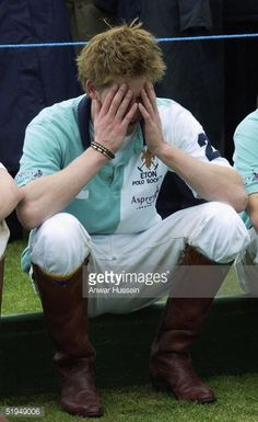 Prince Harry is pictured as he plays polo for Eton College against... News Photo | Getty Images