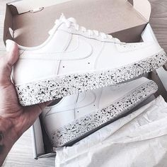 stand out. these will surely turn heads. place your order now for a hand painted custom pair of Nike Air Force 1s low. Due to high demand, orders typically take up to 7-10 business days to be made and shipped.***price includes (1) brand new custom pair of Air Force 1s Low with sole speckled in black (as seen in pic)******All sales are final. Please keep in mind that each pair is a unique piece of art and should be worn as such. We will not accept any returned shoe that has been worn***