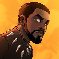T' Challa, Black Panther fanart Marvel Avengers, Marvel Comics, Marvel Fan, Marvel Heroes, Captain Marvel, Captain America, Marvel Cartoons, Animé Fan Art, Arte Sketchbook