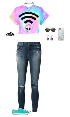 """""""In A Galaxy Far Far Away..."""" by hanakdudley ❤ liked on Polyvore featuring J Brand, Converse, Wet Seal and Forever 21"""