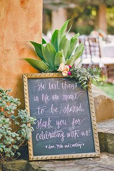 24 Clever & Funny Wedding Signs For Your Reception ❤ From sweet sayings and funny expressions, to practical directions, we've rounded up some of our favorite wedding signs ideas and inspiration. See more: http://www.weddingforward.com/clever-funny-wedding-signs/ #weddings #decorations