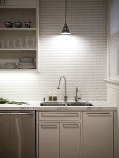 Subway Tile Backsplash Design, Pictures, Remodel, Decor and Ideas - page 4
