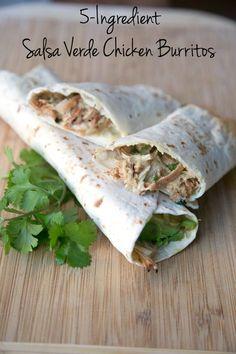 5-Ingredient Salsa Verde Burritos from 5DollarDinners.com