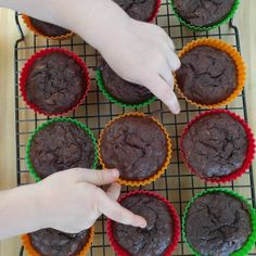 Fudgy chocolate and zucchini muffins Recipe to come check linkhellip