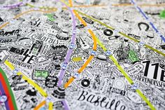 Карта Парижа от креативного художника Jenni Sparks - Пятница.ком