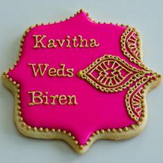 Indian Wedding Cookies Indian Wedding Favors, Big Fat Indian Wedding, Desi Wedding, Unique Wedding Favors, Wedding Party Favors, Indian Bridal, Cake Wedding, Indian Weddings, Wedding Ideas